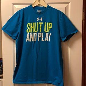 Under Armour T-Shirt. Blue. size medium.